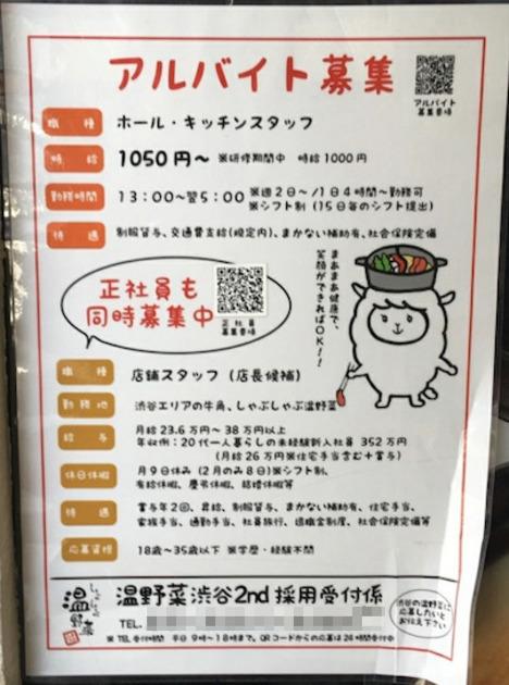 しゃぶしゃぶ温野菜 渋谷2nd