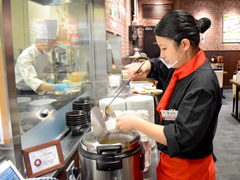 いきなりステーキのバイト作業の写真
