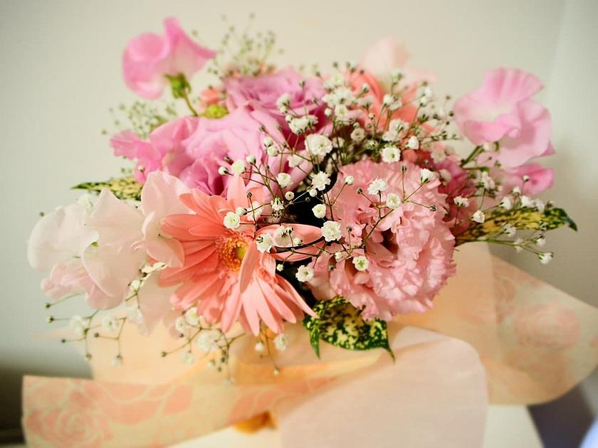 退職の花束の写真