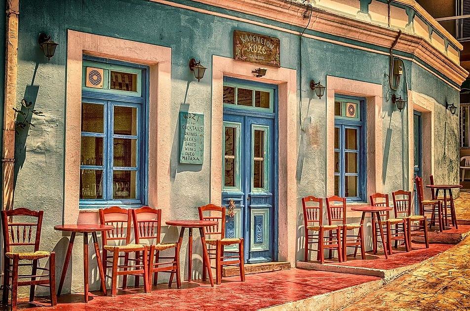 外国のカフェの写真