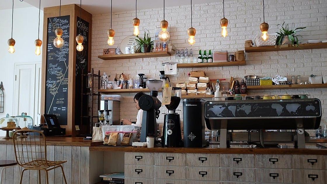 カフェ店内の写真