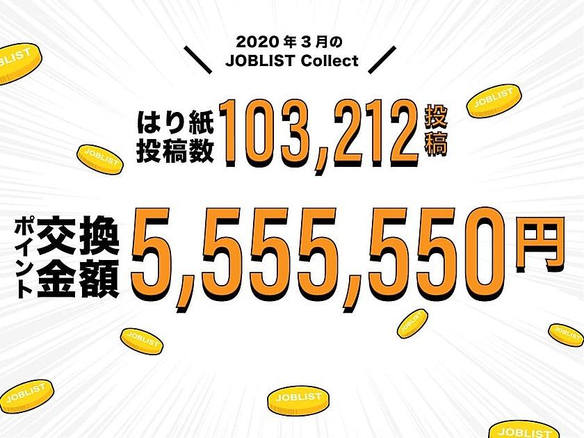 はり紙投稿数103212投稿 ポイント交換金額5555550円