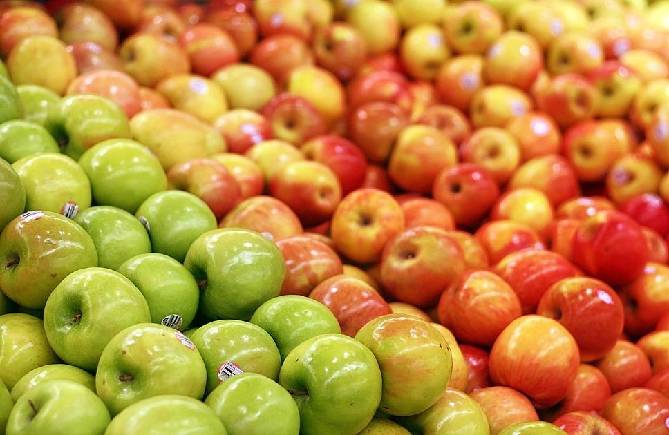 リンゴが盛られている写真