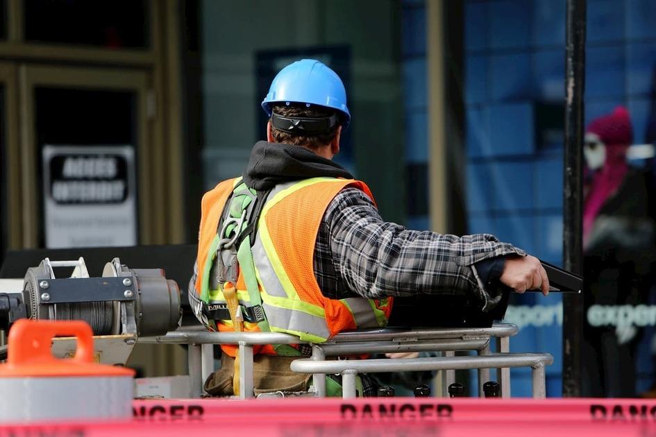 建築現場の作業員