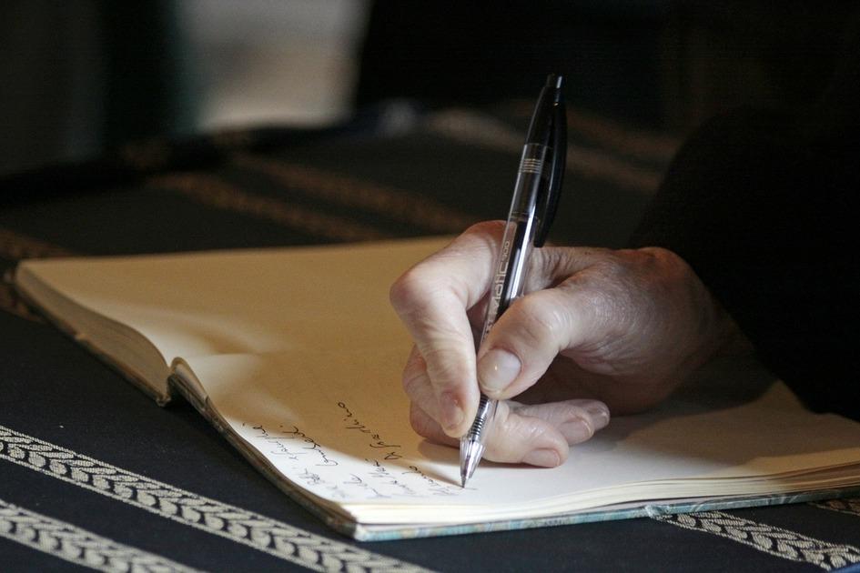 メモを書いている