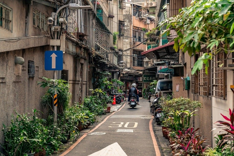 台湾の路地